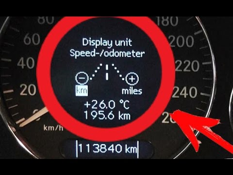 Replacement of a speedometer from Miles on Km W211 / Replacement instructions Miles to Km  W211