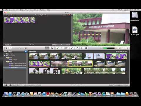 iMovie 11: Trimming a Clip
