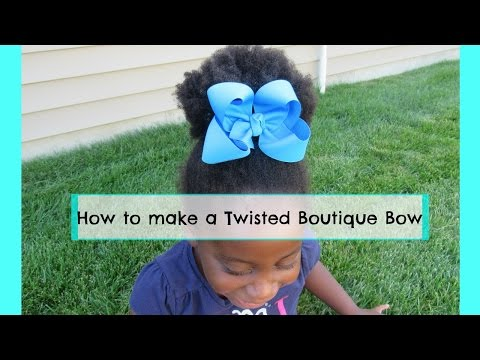 How to make a Twisted Boutique Bow | How to make bows!