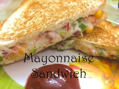 Mayonnaise Sandwich Recipe | Veg Mayo Sandwich | Easy & Quick Mayo Sandwich | Sandwich Recipe