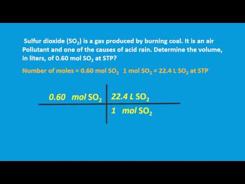 Mole & Volume of a gas