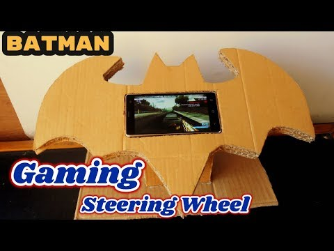 Cardboard Steering Wheel | Homemade BATMAN Gaming Steering Wheel | Toy