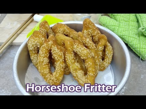 Making Horseshoe Fritter - Chinese Popular Street Food | MyKitchen101en
