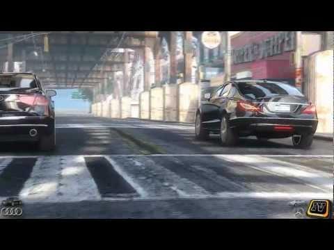 GTA 4 - Audi A8 vs. Mercedes-Benz CLS 350 [2011 gerneration]