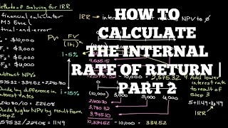 Episode 165 How To Calculate The Internal Rate Of Return Part 2
