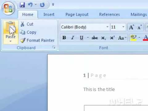 How to copy Excel data into Word as text only