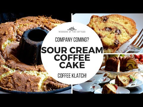 The best SOUR CREAM COFFEE CAKE recipe!