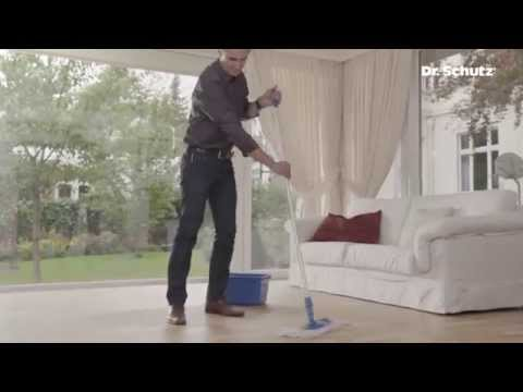 Cleaning sealed wood and cork floors with Wood & Cork Floor Cleaner