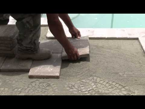 Tuscan Paving Stone - Tuscan Mortar Set Pool Deck