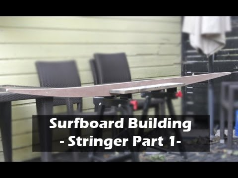 Making a Surfboard Stringer Template Part 1: How to Build a Surfboard #04