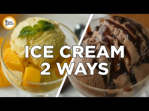 Mango Ice cream & Chocolate Ice cream recipe by Food Fusion