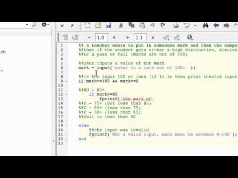 3.2 Mark Grading Example using If and Else Statement in MATLAB