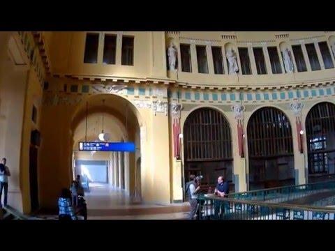 Prague's main train station (Praha hlavní nádraží)
