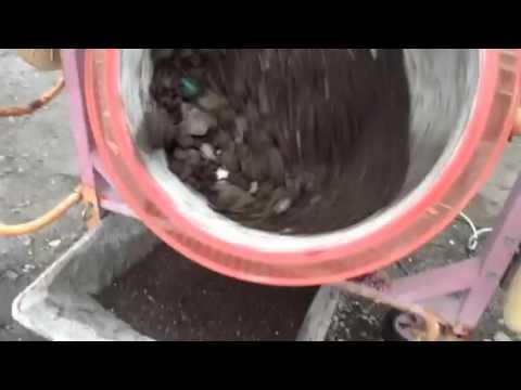 Cement mixer sieve