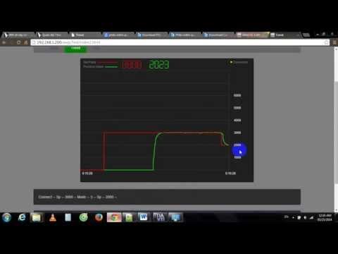 DC Motor Speed Control using S7-1200 Webserver.