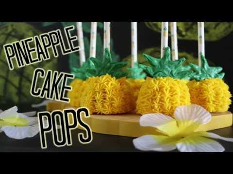 Pineapple Cake Pops! - TEST VIDEO