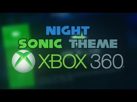 Testing My New Xbox360 Night Sonic Theme !