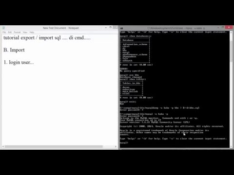 [MySQL] Export Import SQL di Command Prompt