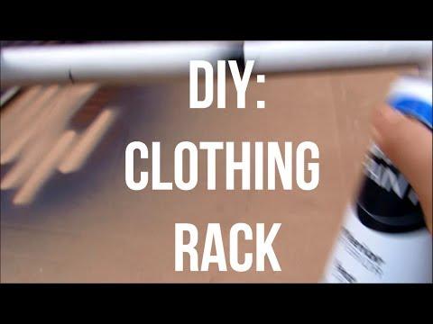 DIY PVC Clothing Rack