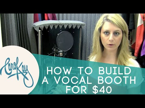 How To Make A Vocal Booth For $40
