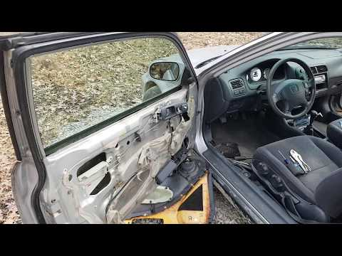 1996 - 2000 Honda Civic Power Window Off Track Quick Fix How To