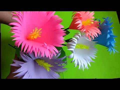How to make paper flower bouquet Stick. Very Easy To Make. DIY flowers making.