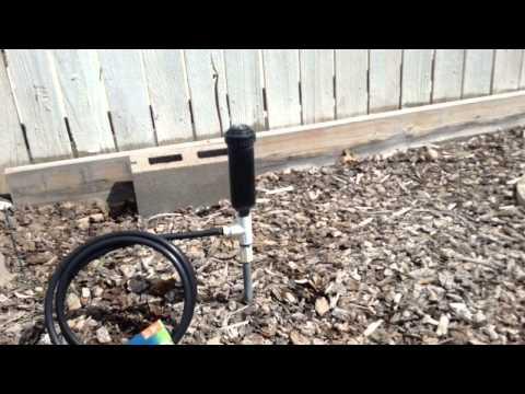 Attaching garden or hose sprinkler into an irrigation sprinkler system.