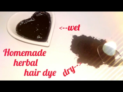 Homemade herbal hair dye l How to Instantly color your hair at home |100% natural / Instantly color