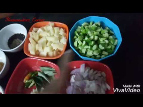 Chappathi side dish | Potato and Ivy gourd dry sabzi in tamil