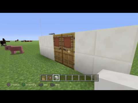 Minecraft:How to make a one way window
