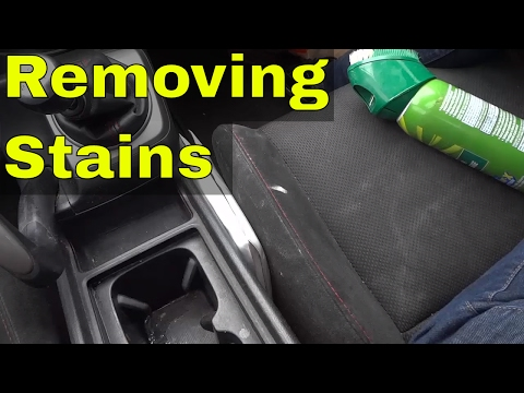 Removing Stains From Car Seats With Upholstery Cleaner