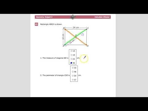 Question 21 - Geometry - TNReady Practice Test