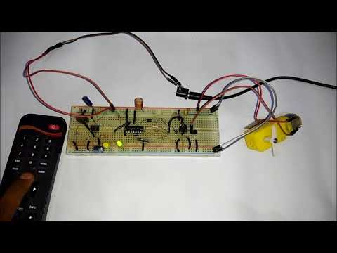 Wireless DC Motor Speed Control using IR Remote and 555 Timer IC