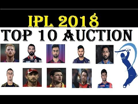 IPL AUCTION 2018: TOP 10 MEGA-MILLIONAIRES OF IPL  ! KXIP, KKR, CSK, MI, SRH, RCB, , DD & RR