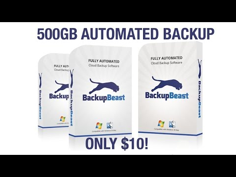BackupBeast - 500GB of Cloud Backup for Mac and PC