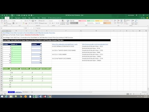Excel Magic Trick 1402 Part 3: Power Query to Put Check Mark In Cell If Number Greater Than 0