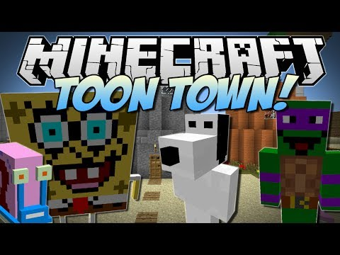 Minecraft | TOON TOWN! (Spongebob, Gary, Ninja Turtles & More!) | Mod Showcase [1.6.4]