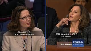 Exchange between Sen. Harris and CIA Director Nominee on torture (C-SPAN)