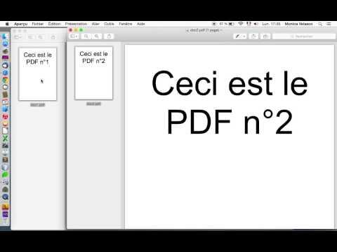Comment fusionner deux PDF avec Aperçu sous Mac