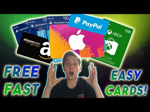 Easiest Method! - Get Free iTunes, Amazon, Paypal, Xbox, (Gift Cards Free)! Really Fast 2016