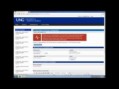 Entering a Workorder for IT at the University of North Georgia