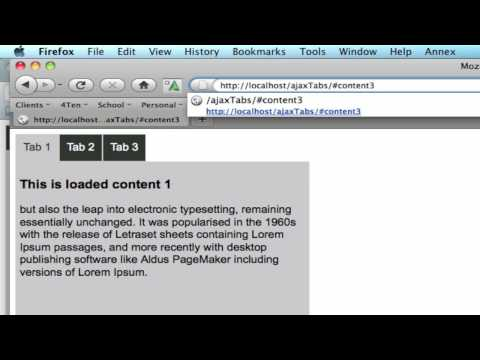 jQuery Ajax Tabs - load from url, onstate, and jquery on the tabs