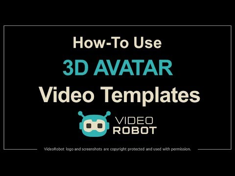 How to Use 3D Avatar Templates in VideoRobot
