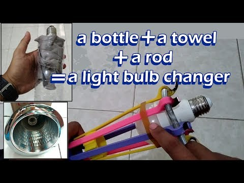 How to Make Light Bulb Changer in Two Minute. No Ladder Needed
