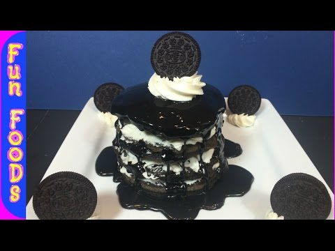 How to Make Oreo Pancakes | Homemade Chocolate Pancakes from Scratch