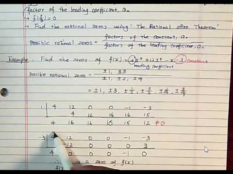 MATH1314 Section2 5 Zeros of Polynomial