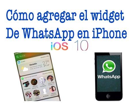 Widgets de WhatsApp para iPhone