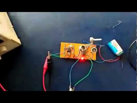 Automatic Doorbell Using Ultrasonic Transmitter and Receiver