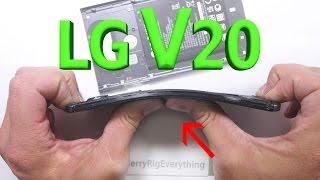 LG V20 Scratch Test - Bend Test - BURN test - Durability Video!
