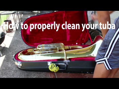 How to properly clean your tuba